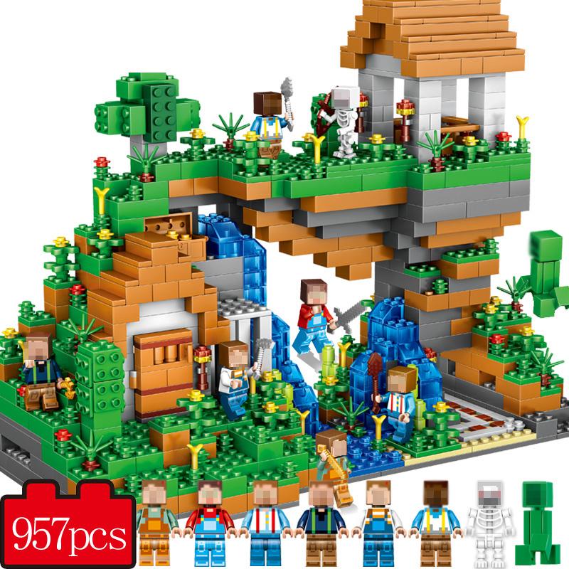 UKLego My world Hidden water falls Minecraft Building Bricks Toy.