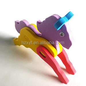 Mini 3D assorted colors kids eva foam animal puzzle