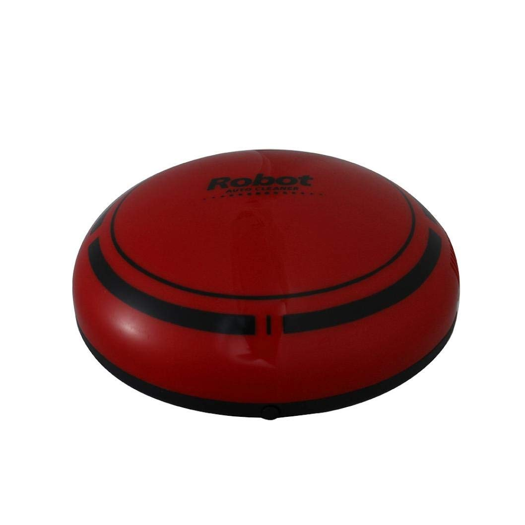 Hot Sale! Hongxin Smart Robot Vacuum Cleaners Creative Intelligent Automatic Sweeping Robots for Home Office Dust Hair Cleaning Robot Mini Sweeping Machine (Red)