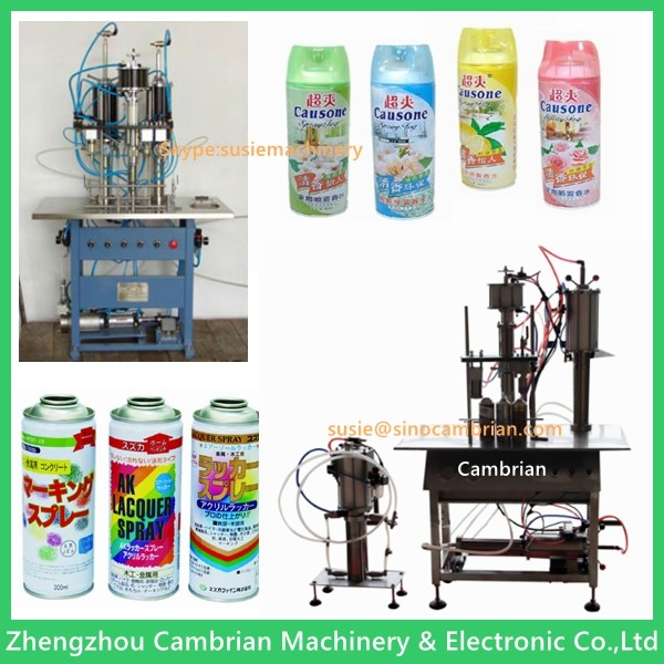 Hair spray used automatic small aerosol bottle filling equipment machine for sale