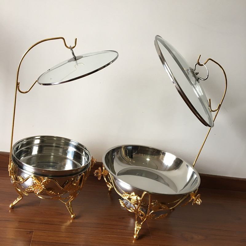 6L / 8L Stainless Steel Buffte Set Rose Golden Chafing Dishes Food Warmer