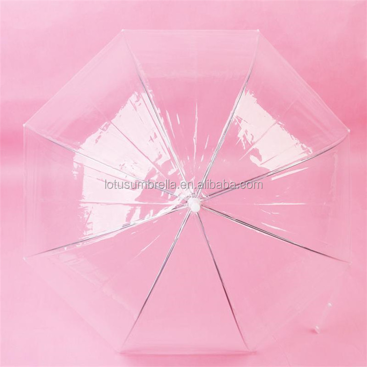 "New 21"" Transparent Clear Rain Mushroom Type Umbrella POE Bubble Dome Shaped for Wedding Party Favor"