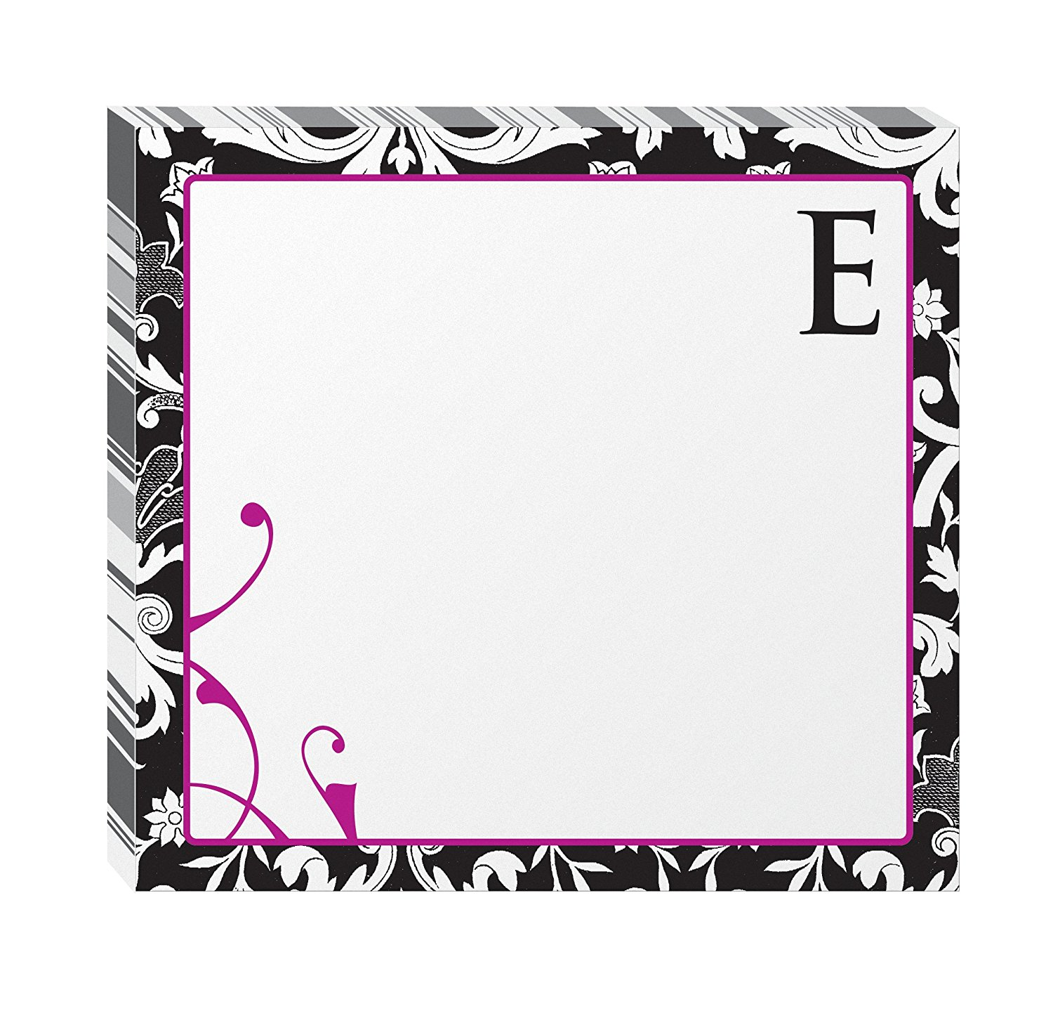 "Post-it Notes, Super Sticky Pad, 3 Inches x 3 Inches, Monogram ""E"", 75 Sheets per Pad, 2 Pads per Pack (6335-E2-BC)"