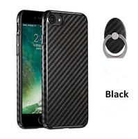 DUZHI wholesale cell phone plastic hard cover for iphone 7 UV painting carbon fiber texture phone case for iphone7