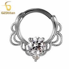G23titan, опал, камень, перегородка, зажим для носа, пирсинг, кольца, очаровательный опал, кристалл, соски, пирсинг, серьги, модные ювелирные издел...(China)