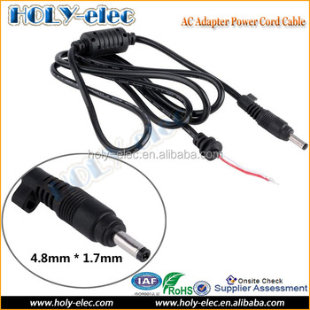Factory Price Copper Dc Tip Plug Connector Cord Cable For Hp Pavilion  Sleekbook Envy Laptop Charger Adapter Black Pin 4 8 X 1 7 - Buy Ac Power  Adapter