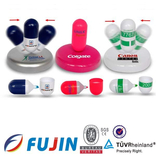 Capsule pill shaped Highlighters/medical highlighter parmaceutical promotional item made in China/Fancy pens