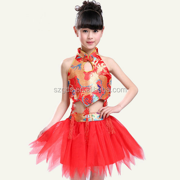 2015 Chinese Fan Dance Costume Boys And Girls Dance
