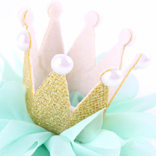 Lovely Baby Kid Girl Toddler Newborn Crown Headband Princess Queen Crown Hair band Pearl Tiara Lace