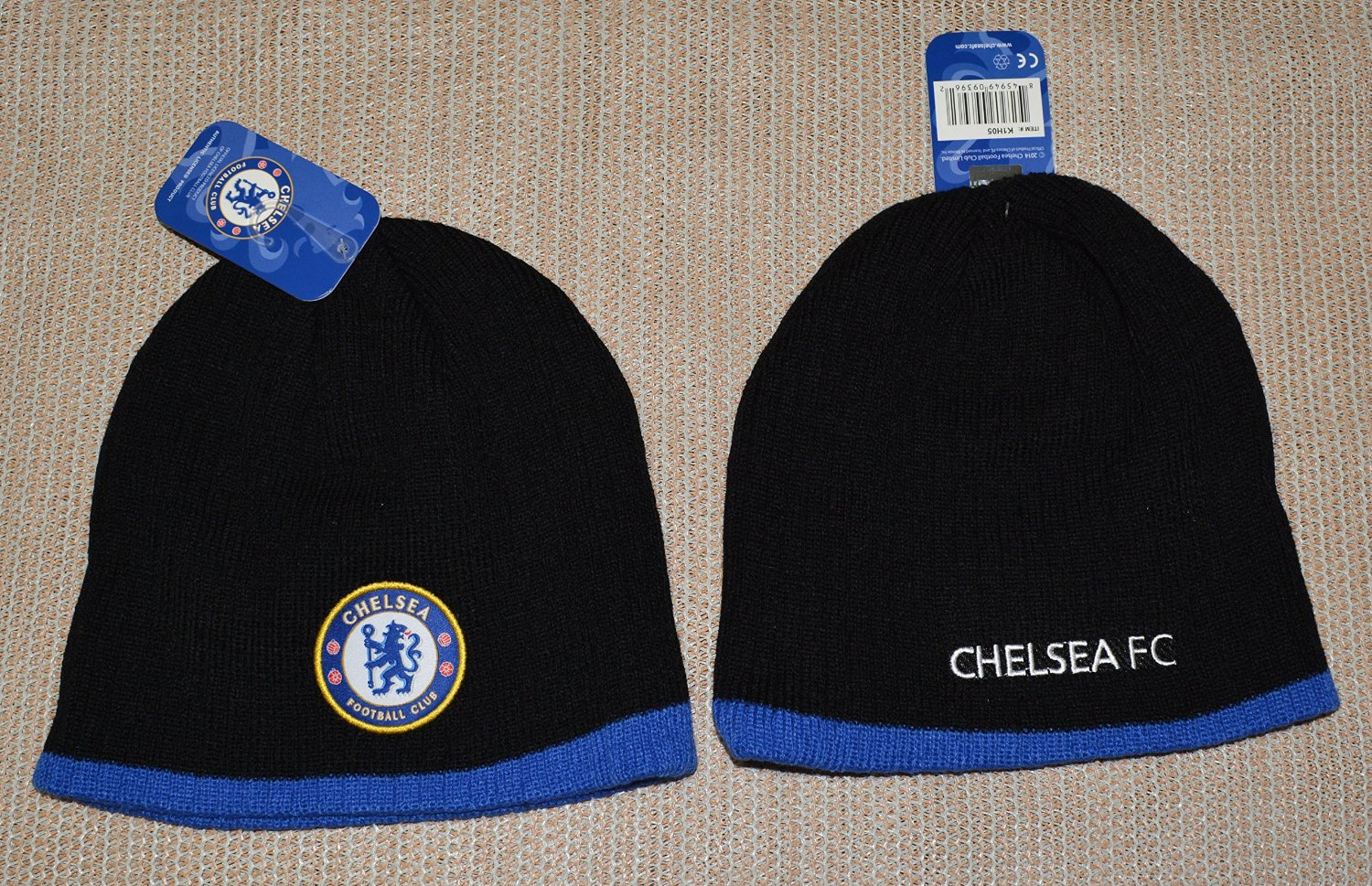 d9da96476a5 Chelsea Fc Beanie Soccer New ! 2014-2015 Official Skull Cap Hat Winter  Authentic