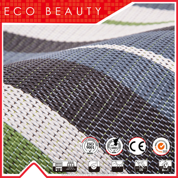 Wear Resistance And Anti Slip Pvc Woven Vinyl Outdoor Rug