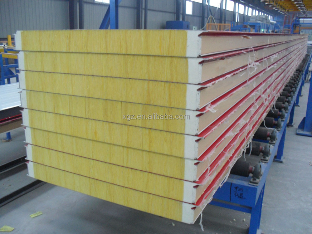 2017 hot sale high quality glasswool sandwich panel