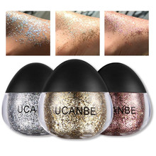 2018 Nieuwe Cosmetische kleine grootte make coloful glitter body shimmer <span class=keywords><strong>poeder</strong></span>