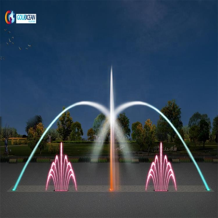 FREE DESIGN ODM colorful water music dancing fountain with 3D nozzles
