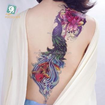 Ac 001belleza Llena Brazo Cuerpo Tatuaje Temporal Pegatinas Para