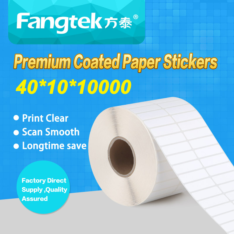 Guangzhou factory price blank self adhesive sticker carton paper label roll