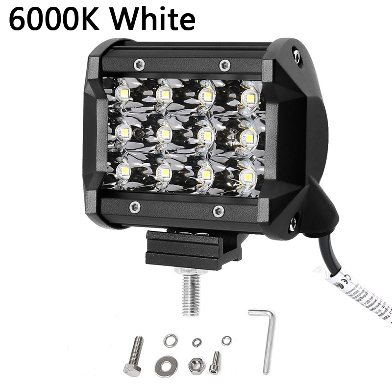 4 Inch 36W Work Light Led Spotlight Bar 6000K 3000K Auto Assembly for Motorcycle Driving Offroad Boat Car Tractor Truck