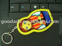 PVC key chain light ,led keychain ,key chain light,Keychain