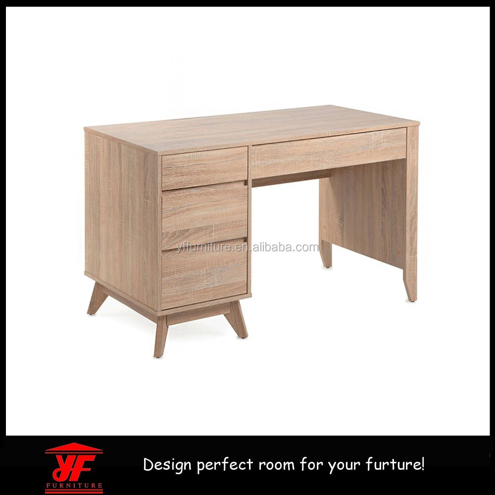 Porto English Oak Effect 3 Drawer standing Office Computer Desk