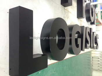 Non-light painted stainless steel metal build up 3D lettering letter box traffic sign board