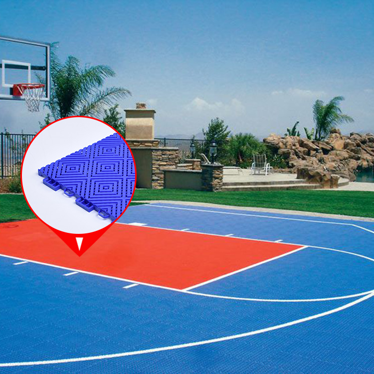 Modulaire draagbare outdoor basketbalveld sportvloeren + draagbare outdoor basketbalveld