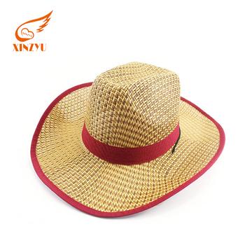 Fancy Felt Western Girls Cowboy Hat straw paper Material Women Cowboy Hat 07c8dc1a7b1