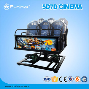 Hydraulic / Electronic System 7d Motion Ride Simulator 7d Cinema With 4d Motion Chair
