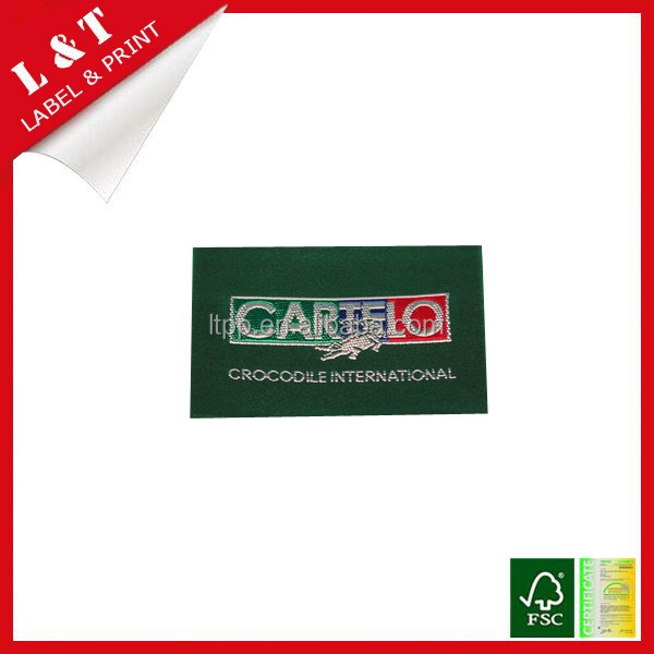 Fabric garment accessories damask woven labels, clothing main labels