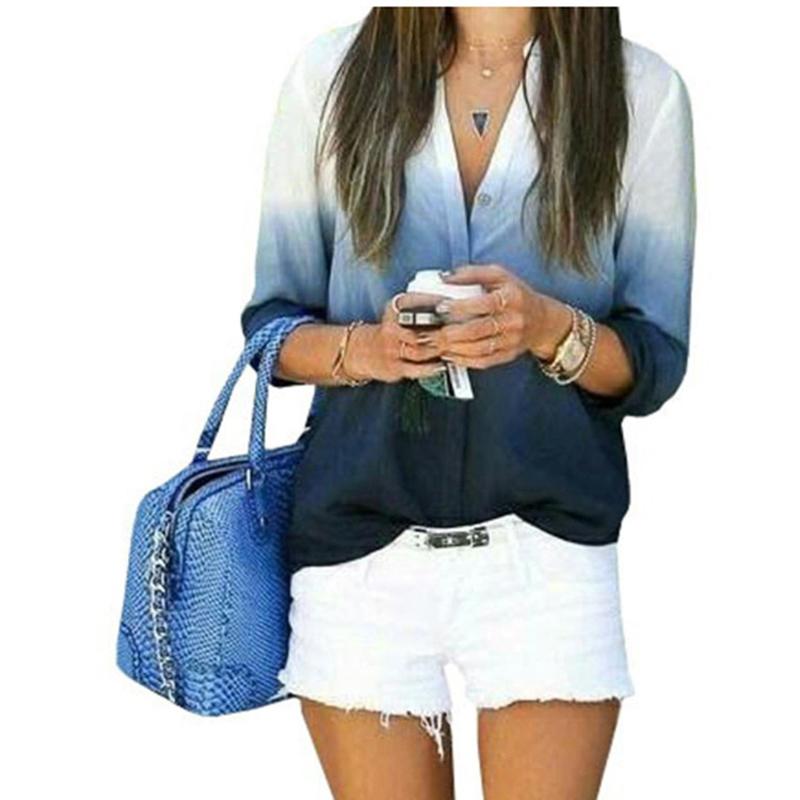 Compra Blusas de cuello v para las mujeres online al por