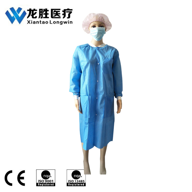 Good Sale Breathable Disposable Non Woven Lab Coat