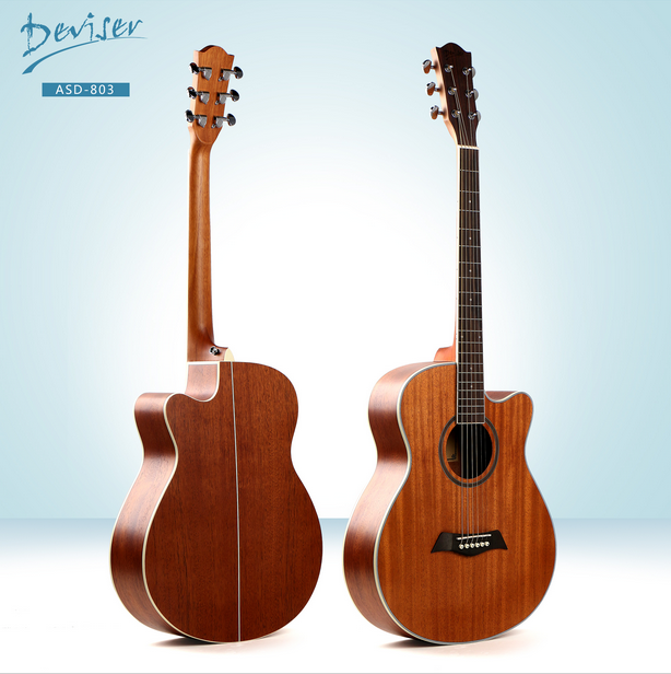 Wholesale musical instruments guitar 40 Deviser music guitar cheap china acoustic electric guitar