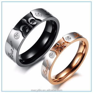 MECYLIFE king and queen engagement couple wedding ring