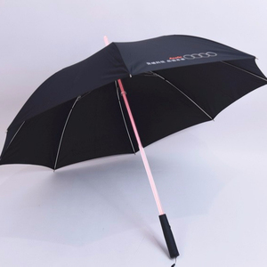 Logo printed promotional 8 panels straight led umbrella with light torch