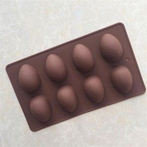 homemade DIY baking 8 cavity silicone chocolate egg mold