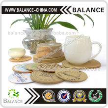 Cup / glass customized printing cork coaster for souvenir
