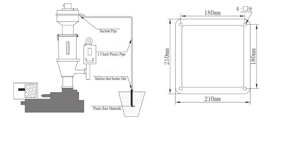 industrial hopper  hopper feeder  vacuum transfer powder