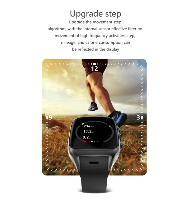 X02S Smart Watch with MTK6580 512MB RAM 8GB ROM Android 5.1 3G WiFi GPS 2.0MP Camera SIM Card Clock Smartwatch Phone