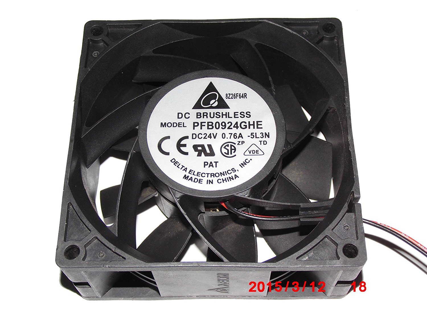 Generic 9cm PFB0924GHE -5L3N 24V 0.63A 2Wire Delta Cooling Fan