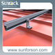 L Foot Solar Tin Roof Mounting System Solutions