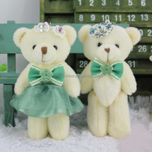 Valentine day gift plush bear bouquet keychain fashion wholesale cute stuffed plush green mini teddy bear t shirt