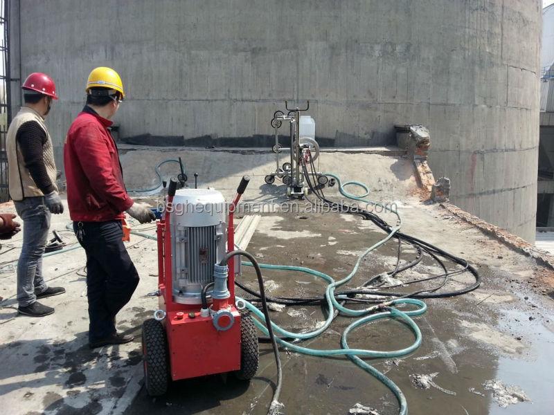 Hydraulic Concrete Wall Saw : Portable concrete cutting machine bsgh hydraulic diamond