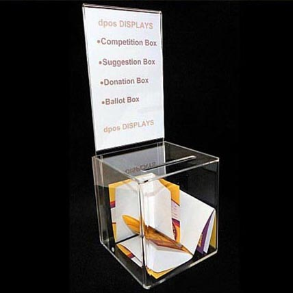 DDD-0183 Trade Assurance Freestanding Donation Collection Box