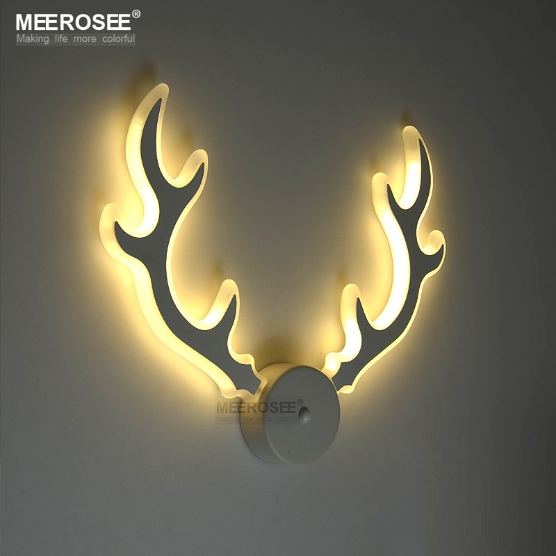 dp glass amazon deer faux antler com sconce wall light antlers candle sconces high