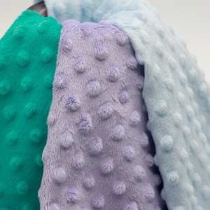 Eco-friendly 100% polyester bubble embossed super soft minky plush fabric