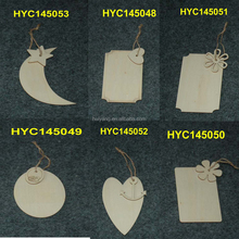 Wholesale Custom Unfinished Gift Tag Wooden Laser Engraving Blanks