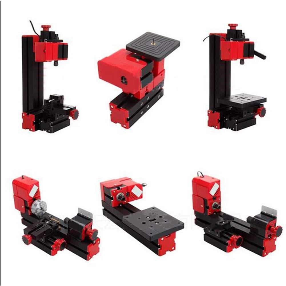 Pevor 6 in 1 Multi-functional Metal Wood Lathe DIY Tool Kit Jigsaw Grinder Motorized Transformer Multipurpose Milling Sanding Turning Sawing Drilling Lathe Machine USA SHIPPING