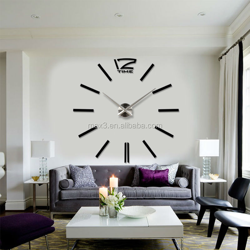 New DIY Wall Clock Roman Numeral 3D Mirrors Surface Large Size Luxury Art  Clock Part 61