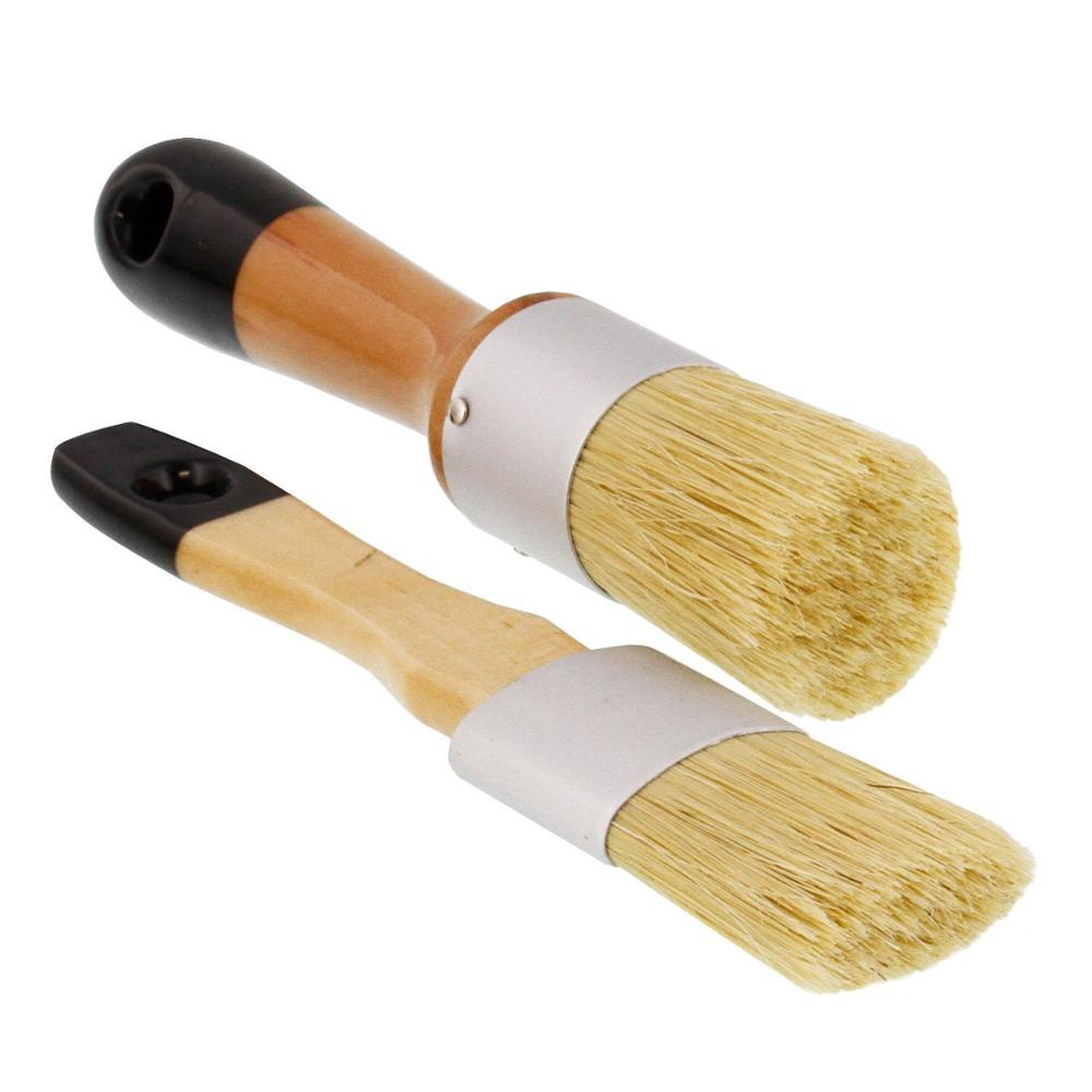Home Decor, Cabinets, Stencils & Woods - Natural Bristles Chalk paint brush & Large Oval Brushes