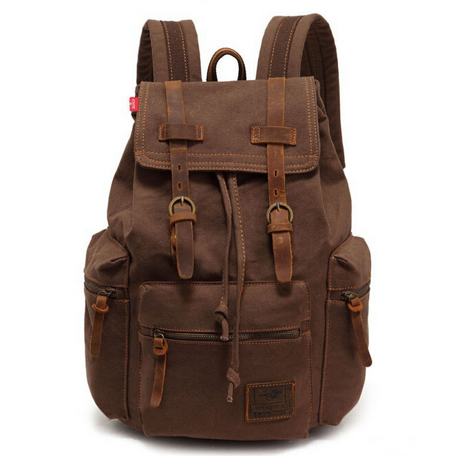QG7154  New Vintage women backpack laptop backpacks Men Canvas Backpack bolsa feminina Leisure Travel Bags school bag for girls