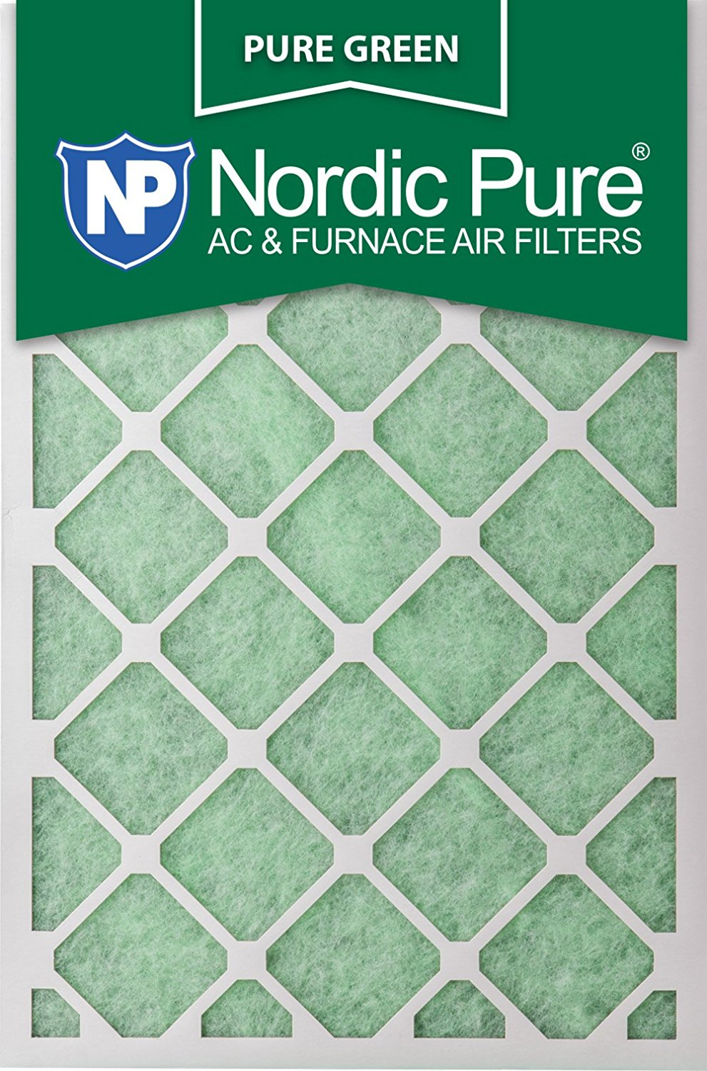Nordic Pure 20x30x1PureGreen-6 AC Furnace Air Filters, 6-Pack